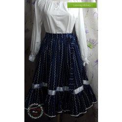 fd01e36904 Fodros szoknya - Néptáncos szoknya - Női néptáncos ruhák - Lenvirág ...