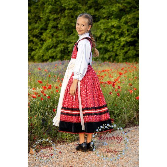 Gyermek mezőségi ruha inggel és köténnyel