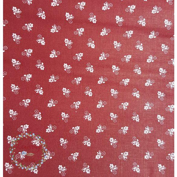 Bordófestős szoknya - Virágos